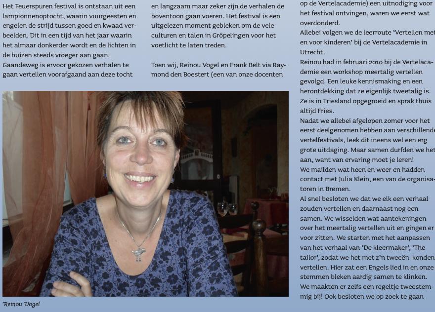 Feuerspuren, een bijzondere ervaring met meertalig vertellen in Bremen